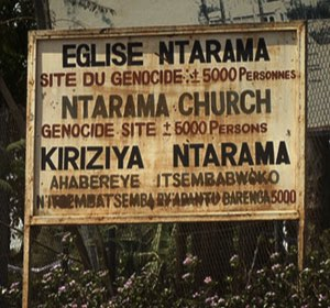Ntarama church sign